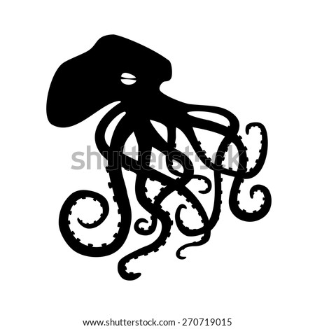 Octopus. Vector illustration - stock vector