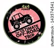 Off-road abstract sticker, vector illustration - stock