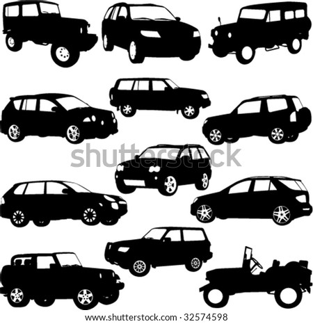 Off-Road, SUV - Layout for presentation - vector - stock vector