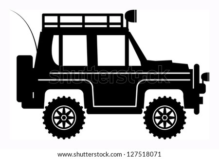 Off-road vehicle, vector illustration - stock vector