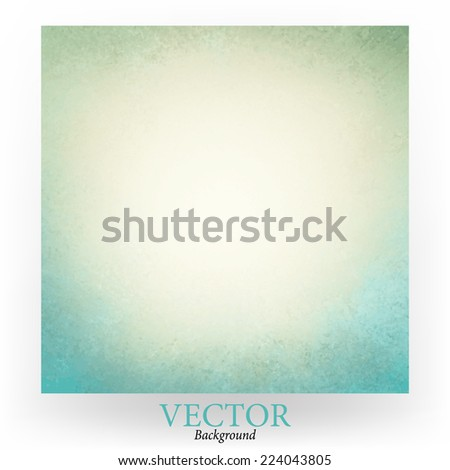 off white background with sky blue grunge border, blue white vector - stock vector