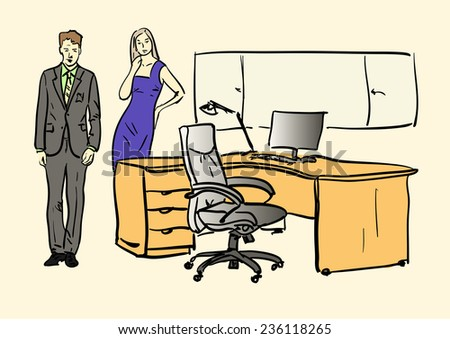 office - stock vector