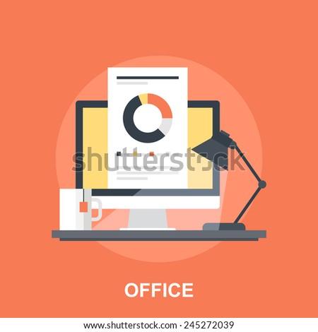 Office - stock vector