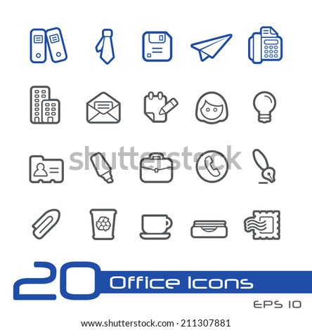 Office and Business Icons // Line Series - stock vector