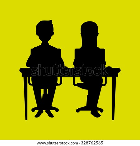 Office and business people design, vector illustration.
