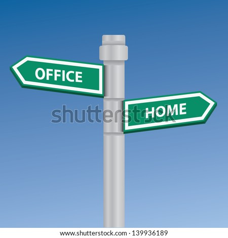Office and home,vector - stock vector
