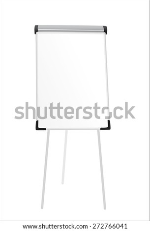 Office board standing isolated on white background,vector illustration - stock vector
