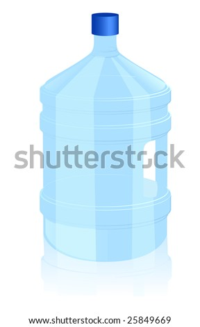 Office bottle of water, vector illustration, EPS file included - stock vector