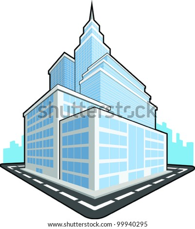 Office Building - stock vector