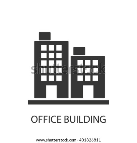 office building icon  - stock vector