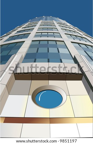 office building vector 1600 points very good quality - stock vector