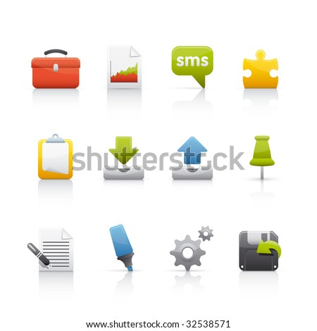 Office & Business Icon Set for multiple applications. In Adobe Illustrator EPS 8.