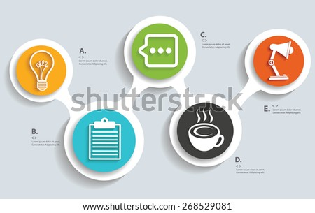 Office,business on buttons, info graphic design,clean vector - stock vector