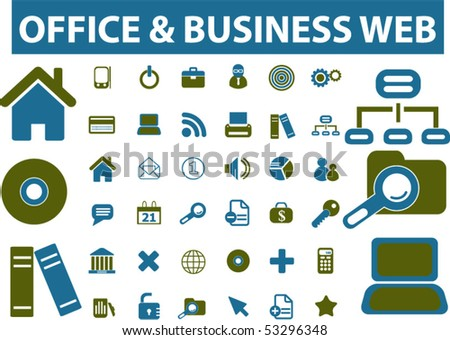 office & business web signs. vector