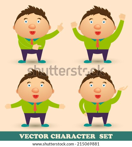 Office businessman character set