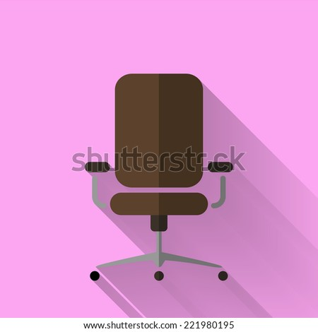 office chair icon in colorful flat design style  - stock vector
