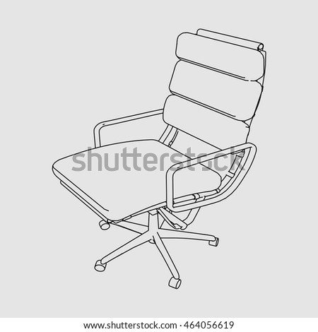 Chair Sketch office chair sketch vector stock vector 464056583 - shutterstock