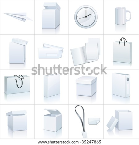 office elements - stock vector