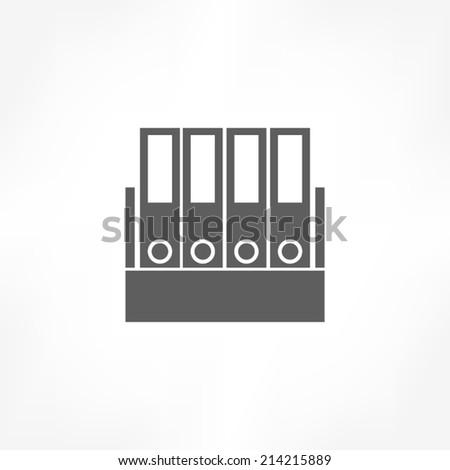office folders icon - stock vector