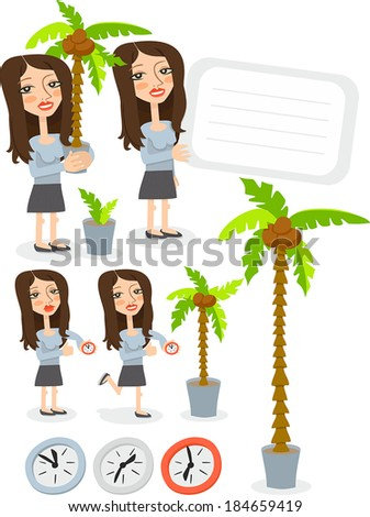 office girl - stock vector