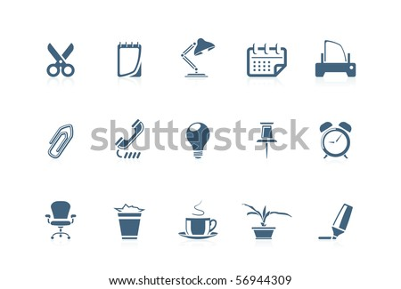 Office icons 1 - stock vector