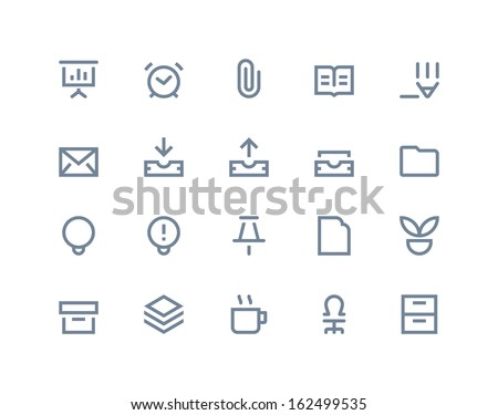 Office icons. LIne series - stock vector