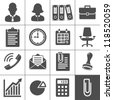 Office Icons. Simplus series. Each icon is a single object (compound path) - stock vector