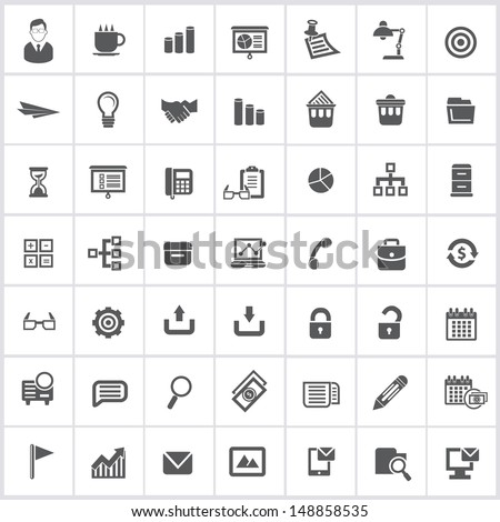 Office icons,vector - stock vector