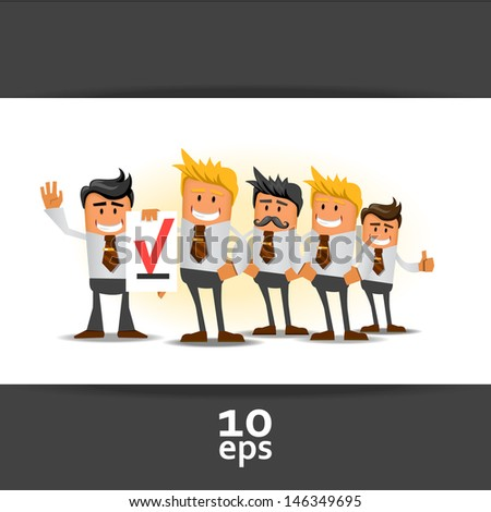 Office managers. Vector illustration - stock vector