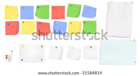 office memos - stock vector
