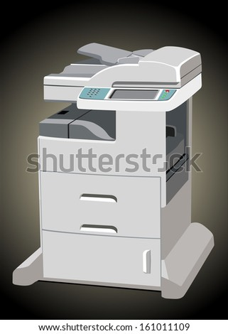 Office Multifunction Printer - stock vector