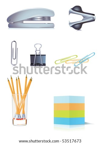 Office objects - stock vector