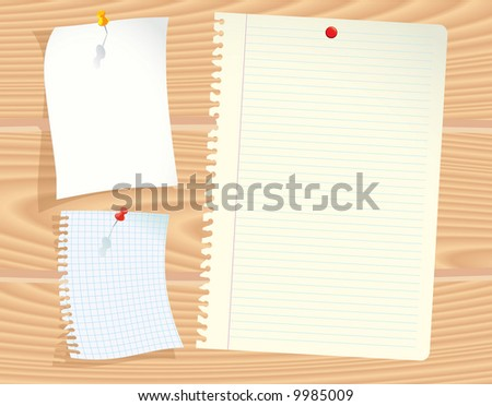 Office papers. Vector. - stock vector