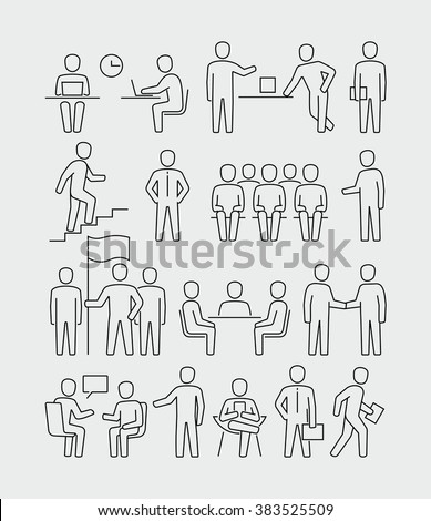 Office people  - stock vector