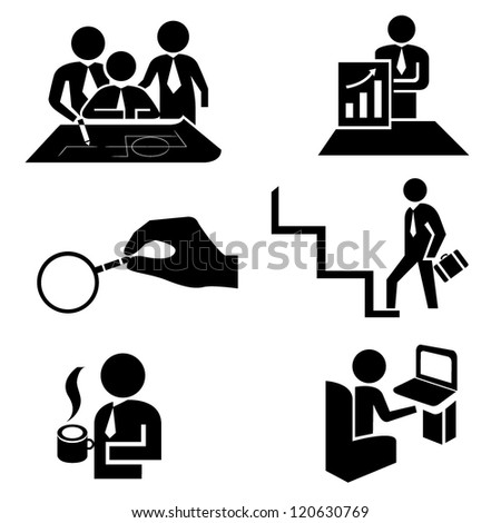 office people in different actions - stock vector