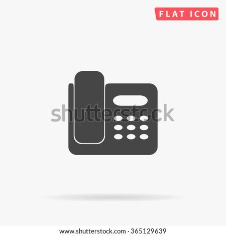 Office Phone Icon Vector.  - stock vector