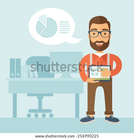 Office Presentation. - stock vector