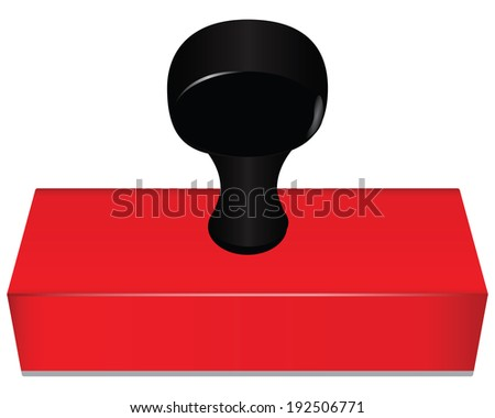 Office Printing for rectangular marking documents. Vector without trace. - stock vector