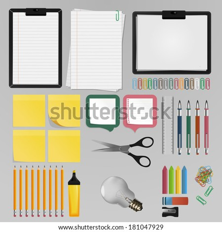 Office Stuff - stock vector