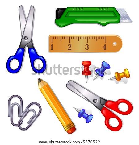 office supplies - stock vector