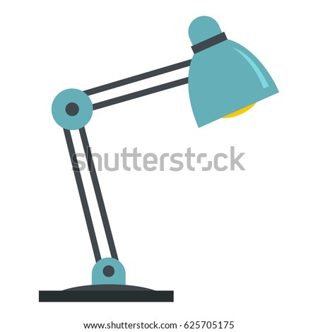 office table lamps. office table lamp icon flat illustration of vector isolated on white lamps