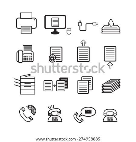 Office tool vector,icon set - stock vector