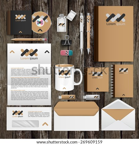 Office tools and identity design, vector