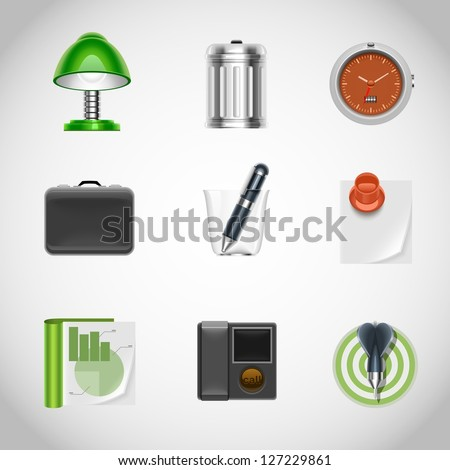 office vector icons - stock vector