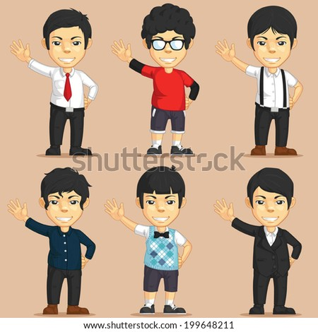 Office Worker Charater Set - stock vector