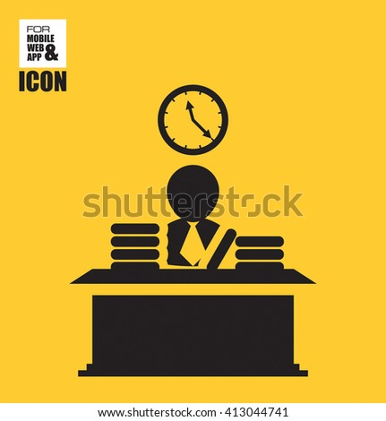 Office worker icon - stock vector