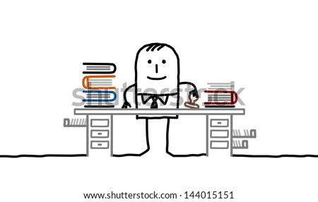 official man - stock vector