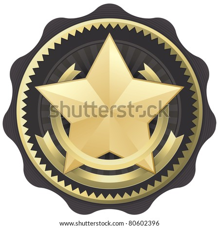 Official Seal Emblem Certification Badge or Award, Vector Illustration - stock vector