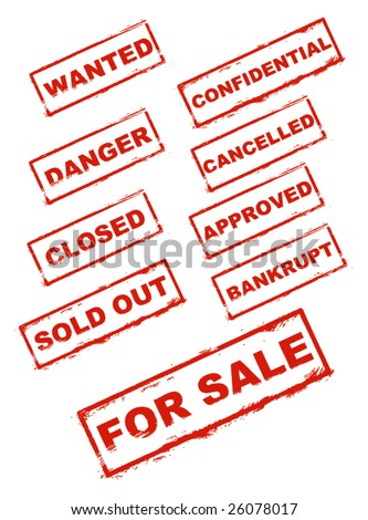 Official Stamp Signs Vector - stock vector