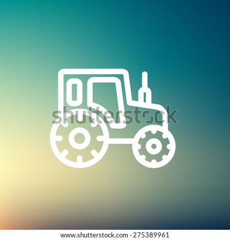 Offroad car icon thin line for web and mobile, modern minimalistic flat design. Vector white icon on gradient mesh background. - stock vector